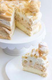 Bez Papriky: Větrníkový dort Food Porn, Sweet Cakes, Pavlova, Desert Recipes, Vanilla Cake, Sweet Recipes, Cheesecake, Sweet Tooth, Food And Drink