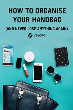 Constantly losing things in the depths of your handbag? Learn how to organise your handbag (and never lose anything again) with these handy handbag organisation tips and hacks. Each one uses VELCRO® Brand products in a clever organisation idea! Organisation Hacks, Handbag Organization, Organize Your Life, Clever, Tips, Products, Advice, Hacks