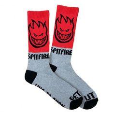 SPITFIRE Sock Hombre red grey chaussettes de skate 15,00 € #skate #skateboard #skateboarding #streetshop #skateshop @playskateshop