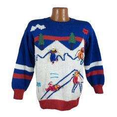 Ugly Christmas Sweater Vintage Acrylic by purevintageclothing