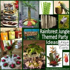 Rain-forest Jungle Themed Fundraiser Inspiration - Fun party ideas!