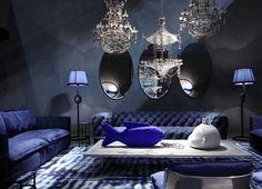 Blueish drowning room