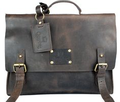 Do I need another bag? No. Do I want another bag? Yes!  Dirty Harry Leather Bag-Dark Brown / by O My Bag