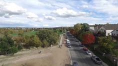 Drone flight over Cottonwood park, Colorado Springs Colorado