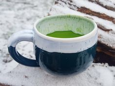 Ceramic coffee mug Ceramic Mug Mug for him Large mug Unique coffee mug Large coffee mug Gift for men Coffee gift Mugs pottery Green mug