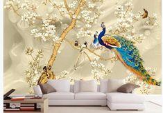 Kids Room Wallpaper, Peacock Wallpaper, Wallpaper, Room Wallpaper, Living Room Tv, Mural, Custom Wallpaper, Living Room Paint, Wall Painting Living Room