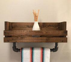 Bathroom shelf with towel bar Towel holder Bathroom towel