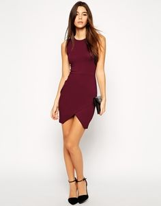 Enlarge ASOS PETITE Asymmetric Sleeveless Body-Conscious Dress. USA system appropriate.