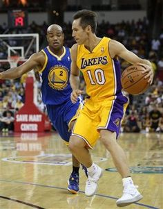 Steve Nash had five points and three assists in his preseason debut with the #Lakers. (AP) #NBA
