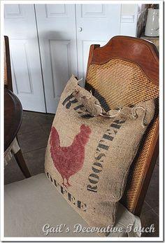 Sibyl Colefax & John Fowler Interior Design and Decoration Diy Burlap Bags, Burlap Crafts, Burlap Lace, Burlap Pillows, Throw Pillows, Burlap Mason Jars, Burlap Projects, Fun Crafts, Shabby