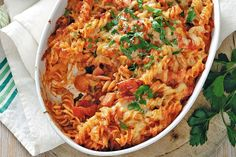 Cheesy tomato pasta bake - WE had this for dinner tonight. Yummo.