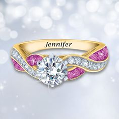 deb831c7e30386 October's birthstone is perfection in pink! Celebrate October birthdays in  incredible fashion with the Birthstone Swirl Ring.