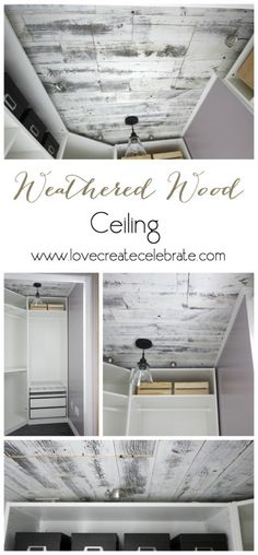 Make a statement in no time at all, by adding a beautiful, rustic weathered wood ceiling or feature wall to your home! The video tutorial shows you just how easy it is! I love the light too! Wood Ceiling Panels, Wood Ceilings, Plank Flooring, Floors, Weathered Wood, Rustic Wood, Home Repairs, Ceiling Design, Home Decor Inspiration