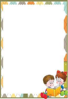 caratula para niños - Szukaj w Google School Border, Free Printable Stationery, Boarder Designs, Boarders And Frames, Portfolio Covers, School Frame, School Images, Powerpoint Background Design, Kids Background