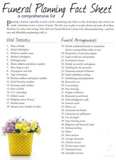 Funeral Planning Checklist Template Fresh 5 Funeral Planning Checklist Template Sampletemplatess – Effect Template Family Emergency Binder, Emergency Preparedness Checklist, Emergency Kits, Emergency Food, Funeral Planning Checklist, Planners, When Someone Dies, Will And Testament, Funeral Memorial