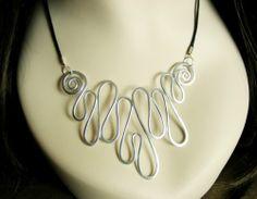 Lightweight Hammered Metal Necklace