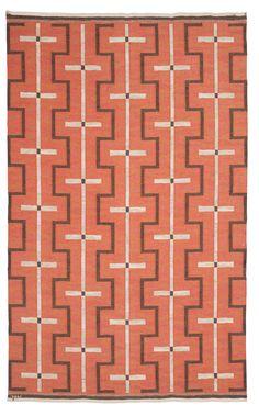 Johanna Brunssons Vävskola - Wool flat-weave rug, 1920s