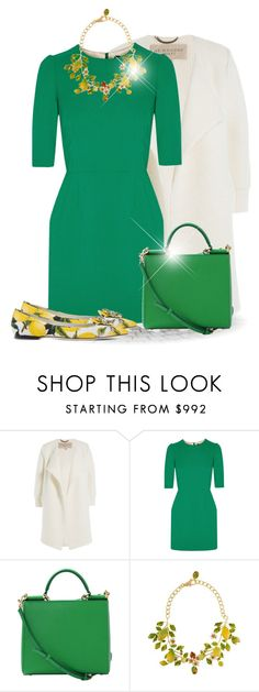 """Colour Series 2/12: Green (OUTFIT ONLY!)"" by bliznec ❤ liked on Polyvore featuring Burberry and Dolce&Gabbana"