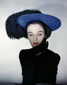 babe paley wearing a hat, photograph by Erwin Blumenfeld