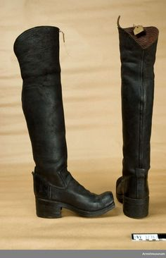 17th Century Clothing, Seven Years' War, Riding Boots, Knee Boots, Footwear, Vintage, Leather, Shoes, Design