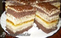 Lara szelet Hungarian Desserts, Cake Bars, Cake Cookies, Nutella, Tiramisu, Ale, Food And Drink, Sweets, Snacks