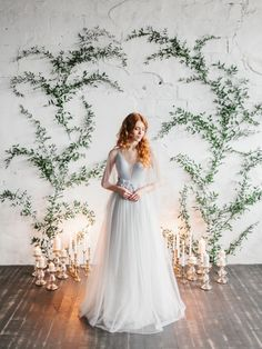 Stylish and chic ideas for an indoor wedding ceremony with trailing vine and can. Stylish and chic ideas for an indoor wedding ceremony with trailing vine and candlelight by Polina Wedding Ceremony Ideas, Indoor Wedding Ceremonies, Wedding Venues, Wedding Backdrops, Outdoor Weddings, Indoor Wedding Decorations, Ceremony Decorations, Romantic Weddings, Wedding Tips