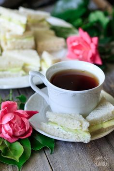 Easy Cucumber Sandwiches: an dainty appetizer to serve at an English tea party, . Appetizers For A Crowd, Low Carb Appetizers, Easy Appetizer Recipes, Appetizers For Party, Gourmet Appetizers, Party Snacks, Tea Party Sandwiches, Cucumber Sandwiches, Mini Desserts