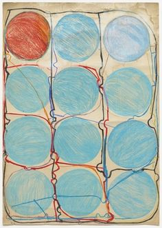 """Atsuko Tanaka. Untitled. 1956. Watercolor and felt-tip pen on paper, 42 7/8 x 30 3/8"""" (108.9 x 77.2 cm). The Museum of Modern Art, New York. Purchased with funds provided by the Edward John Noble Foundation, Frances Keech Fund, and Committee on Drawings Funds. © 2010 Ryoji Ito"""
