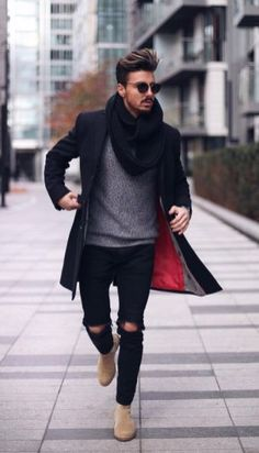 business casual men outfits you can wear every day during winter 07