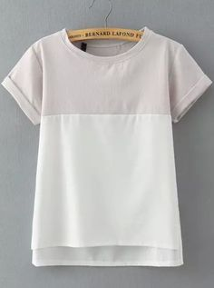 Shop Grey White Short Sleeve Loose Blouse online. SheIn offers Grey White Short Sleeve Loose Blouse & more to fit your fashionable needs.
