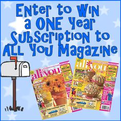 1 Year Subscription to All You Magazine #giveaway