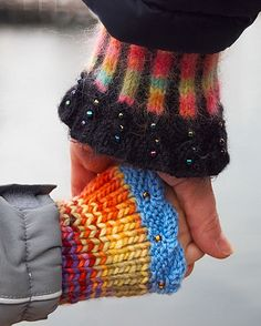 knitted or upcycled, either way, these are really nice cuffs