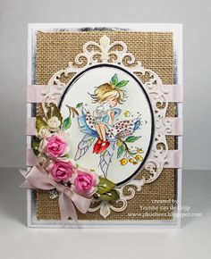 LOTV - Fairy with Dove By Yvonne van der Grijp Handmade Card Making, Whimsy Stamps, Angel Cards, Beautiful Handmade Cards, I Card, Fairies, Projects To Try, Lily, Paper Crafts