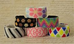 Beading Patterns Free, Seed Bead Patterns, Beaded Bracelet Patterns, Beading Projects, Beading Tutorials, Bead Jewellery, Beaded Rings, Bead Crochet, Seed Beads