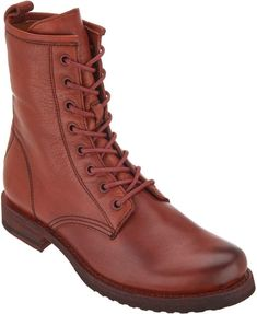 Frye Leather Lace-up Boots - Veronica Combat 04fa13c8832c8