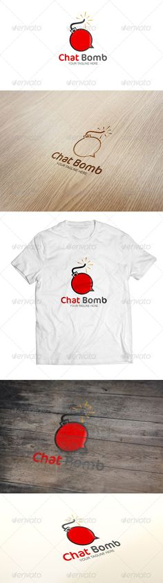 Chat Bomb - Logo Template  #GraphicRiver