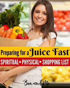 When you're preparing for a juice fast, there are several things to consider -- physical, spiritual, and emotional. Includes a shopping list.