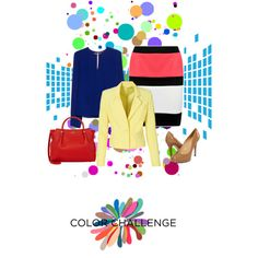 Color Pop by farka-id on Polyvore featuring MANGO, Boohoo, Kate Spade and Nina Ricci