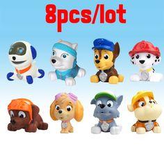 8 cái/lốc Tắm Con Chó Đồ Chơi Tuần Tra Đồ Chơi Phim Hoạt Hình dog Trong Nga Kid Toy Puppy Tuần Tra Patrulla Canina Đồ Chơi Cho Trẻ Em quà tặng