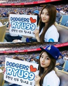 Suzy and Yonghwa attend latest Dodgers game and to open up for Korea Night | http://www.allkpop.com/article/2014/05/suzy-and-yonghwa-attend-latest-dodgers-game-and-to-open-up-for-korea-night