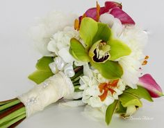 tropical wedding bouquets pictures | Tropical Orchid with Shells Bridal Bouquet | Flickr - Photo Sharing!