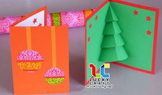 'Tis the season to share some extra love with easy handmade Christmas cards! With some basic craft supplies, simple components become mini works of art. 10 Fun Christmas Cards to Make Pop Up Christmas Cards, Christmas Tree Template, 3d Christmas Tree, Christmas Pops, Printable Christmas Cards, Pop Up Cards, A Christmas Story, Xmas Cards, Diy Cards