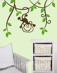 Vine and Monkey Wall Art