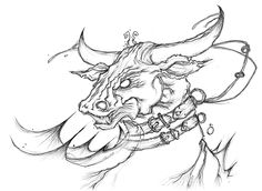 Buffalo made of water. #buffalo #river #water #creature #TYRRC #book #artwork