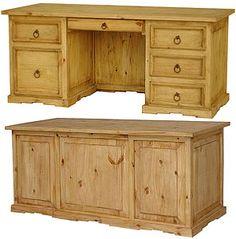 Rustic Pine Furniture ~ Office on Pinterest | Rustic Desk, Office
