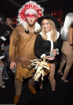 But not every celebrity Halloween costume went off without a hitch. Hillary Duff and her personal trainer boyfriend Jason Walsh felt the wrath of the Twittersphere this weekend after they dressed up as a sexy pilgrim and Native American chief