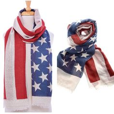 "American Flag Scarf, Swim Cover-Up New in retail packaging. Sheer American Flag scarf. Measures 72"" in length and 37"" in width. Large enough that it can be used as a swim cover-up as well.                                                               🌸100% polyester.                                                           🌺PRICE IS FIRM UNLESS BUNDLED.                         ❌SORRY, NO TRADES. Boutique Accessories Scarves & Wraps"