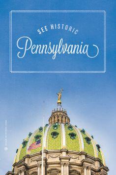 Travel through historical Pennsylvania.