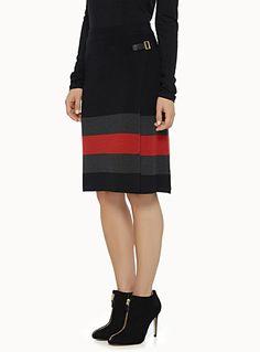 Striped knit skirt | Simons