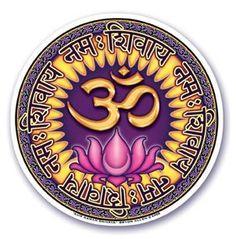 "Mandala Arts Window Sticker ""Aum Namah Shivaya"" Om Decal"